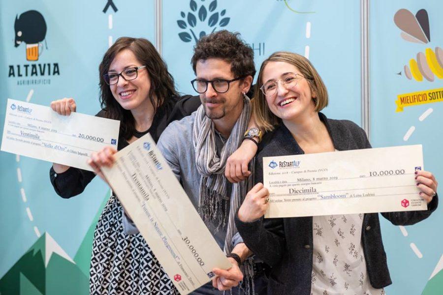 Premiati i tre migliori progetti di ReStartAlp 2018