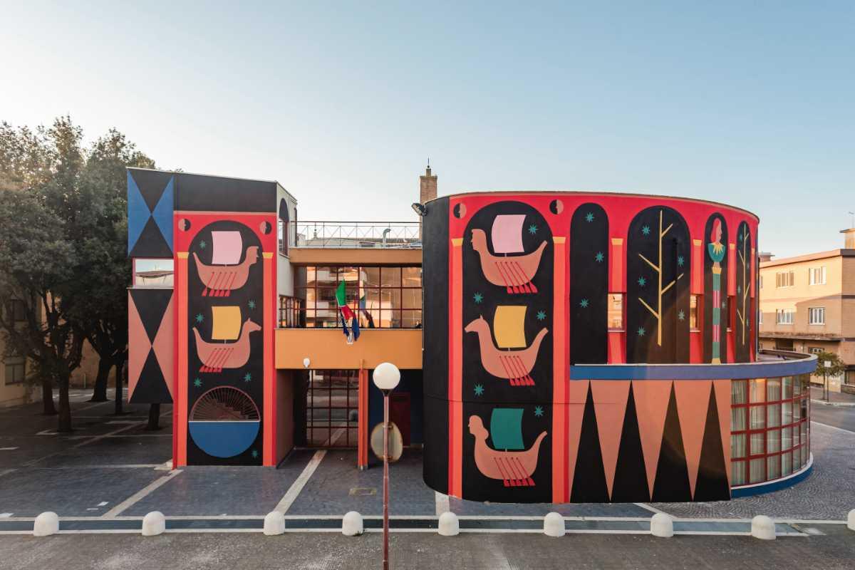 Agostino Iacurci, L'antiporta, 2021 (Pomezia), Credits Andrea Pizzalis, Courtesy Fondazione Pastificio Cerere